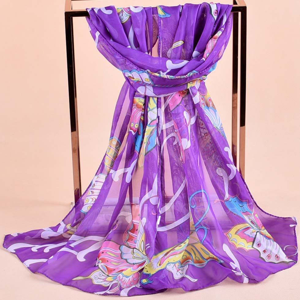 2019 Scarf Thin Chiffon Polyester Silk Scarf Spring And Autumn Accessories Women's Summer Sunscreen Cape Luxury Brand