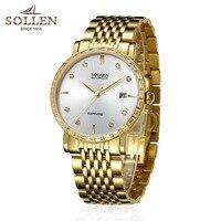 2018 Gold Men Mechanical watch brand luxury Business Man automatic watch Gemstone Diamond watch waterproof Reloj Hombre High end
