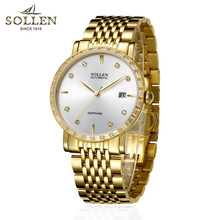 2018 Gold Men Mechanical watch brand luxury Business Man automatic watch Gemstone Diamond watch waterproof Reloj Hombre High-end