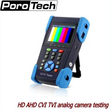 3.5 Inch HD Coaxial Camera Tester CCTV Tester Monitor HD AHD CVI TVI 1080P Analog Camera Testing PTZ Control 12V Ouput