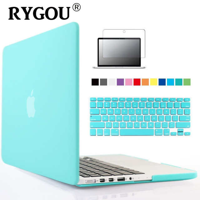 RYGOU Rubberized Clear / Matte Hard Case Cover For Macbook Pro Retina 12 13 15 Air 13.3 11 inch Case Maletin Para Portatil