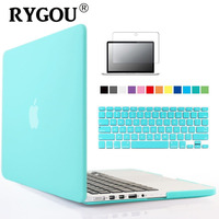 3 In1 Transparent Crystal Matte Rubberized Hard Case Cover Keyboard Cover Film For Apple Macbook Pro