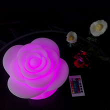 D20*H17cm SK-LF06MR Rose Flower LED Table Lamps 16 Color With Remote Controller for Outdoor Led Bar KTV free shipping 1pc