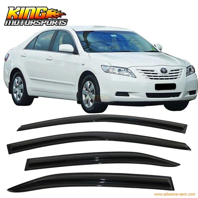 LARATH For 2007-2011 Toyota Camry Smoked Aero JDM Wind Deflectors Stick On