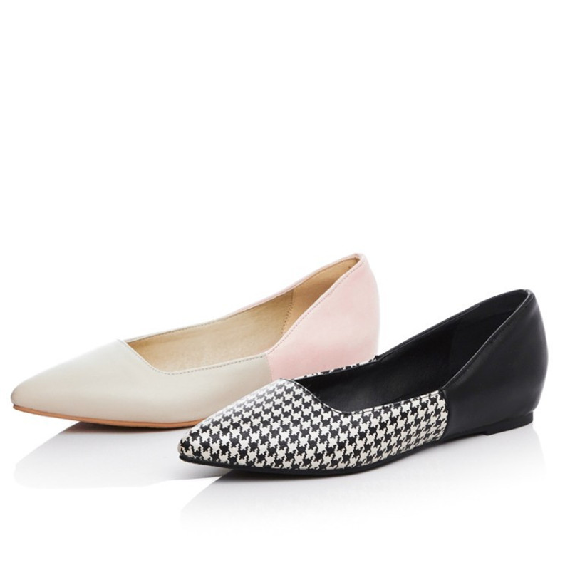 Ladies Plus size 34-43 Mixed Colors Single Pointed toe Women Shoes On Platform OL High Fashion Designer Brands Footwear Black lady glitter high fashion designer brand bow soft flock plus size 43 leisure pointed toe flats square heels single shoes slip on