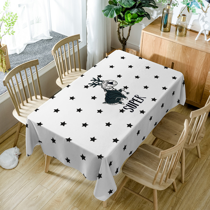 Super Horse Pattern Table Cloth Geometric Print Polyester Tablecloth Oilproof Nappe Dini ...