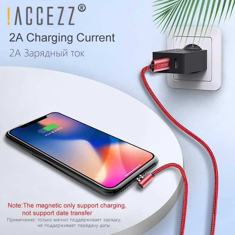 ! ACCEZZ magnetyczny ładowarka kabel oświetlenie dla Apple iPhone XS MAX XR X 8 7 6 6S Plus SE ładowania przewód linii magnes kable do ładowania 2M