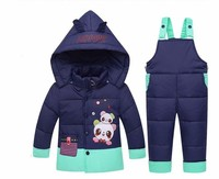 New Winter Kids Baby Girl Boy Toddler Snow Ski Suits Hooded Cartoon Lovely Elf Detachable Duck