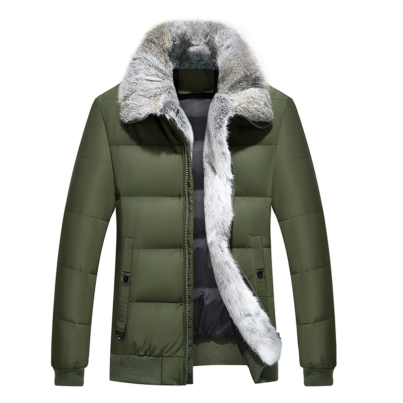new winter 2017 men with thick white duck down jacket Heavy hair warm coats russia winter boys girls down jacket boy girl warm thick duck down