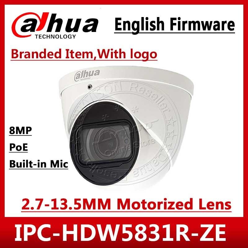 Dahua IPC-HDW5831R-ZE 4K 8MP POE 2.7mm ~12mm Motorized Lens IR50m IP67 Security Camera  SD Card  Built-in Mic IPC-HDW5231R-ZE