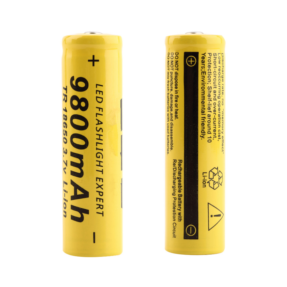 4PCS  3.7V 18650 Battery Lithium Battery 9800mAh 3.7V Rechargeable Battery Li-ion Lithium Bateria For Flashlight