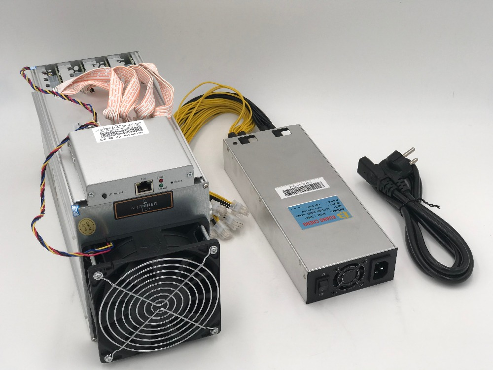 KUANGCHENG Spot  ASIC chip miner ANTMINER L3+ LTC 504M scrypt miner LTC Mining Machine 504M 800W on wall Better Than ANTMINER L3 ...