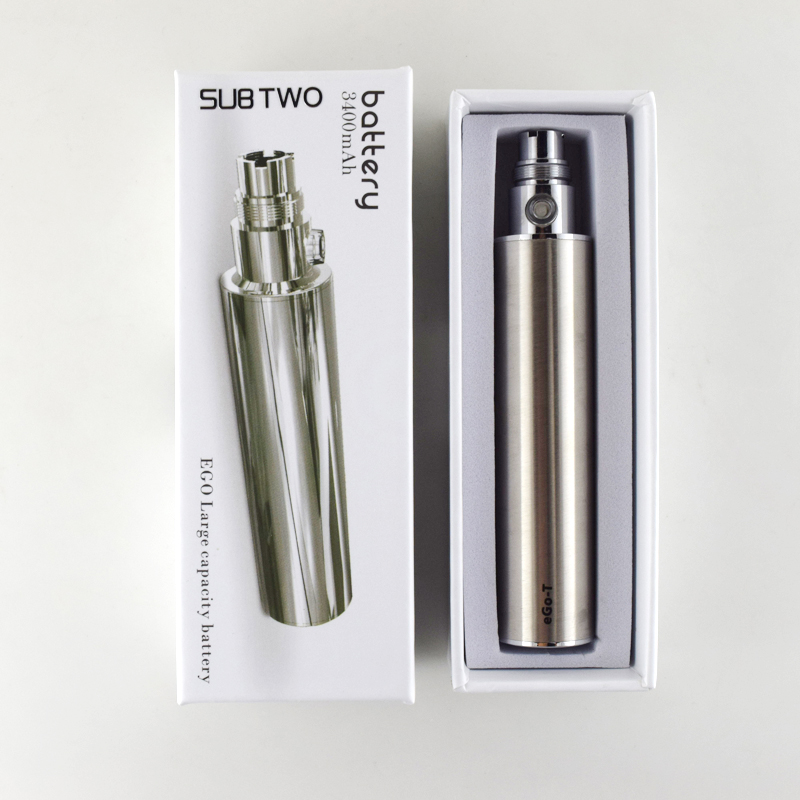 High Quality 3400mah Big Capacitye Ego-t Battery Electronic Cigarette Ego/510 Thread Adjustable Variable Volatage 3.2-4.2v