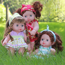 Three Styles 30CM Blink Eyes Reborn Baby Doll Soft Vinyl Silicone Alive Babies Toys For Kids Girls Birthday Chirstmas Gif