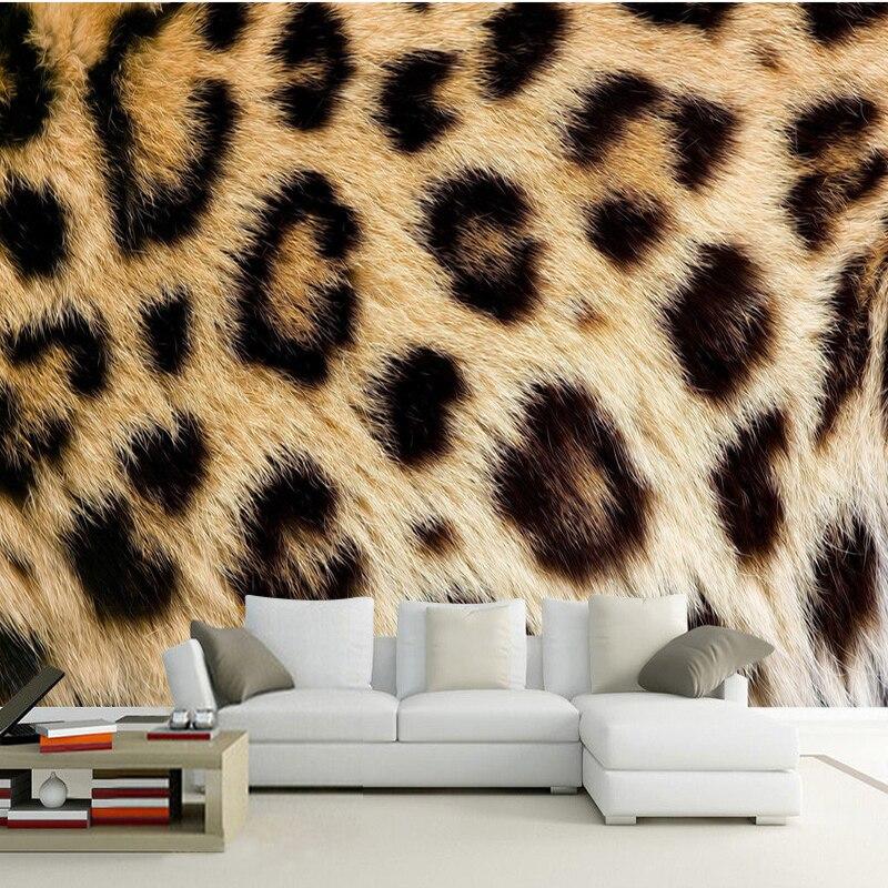 Us 854 54 Offpersonalized Customization Leopard Print 3d Photo Mural Wallpaper Restaurant Clubs Ktv Bar Modern Fashion Decor Papel De Parede In