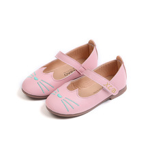 2018New Baby soft sole Girls Casual Leather shoes Fashion Childrens princess Children teenager party leisure