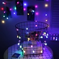 2 М 3 М Шнура сид Цвет Мяч создано АА батареи Праздник рождество главная партия декор night light фонарь VR