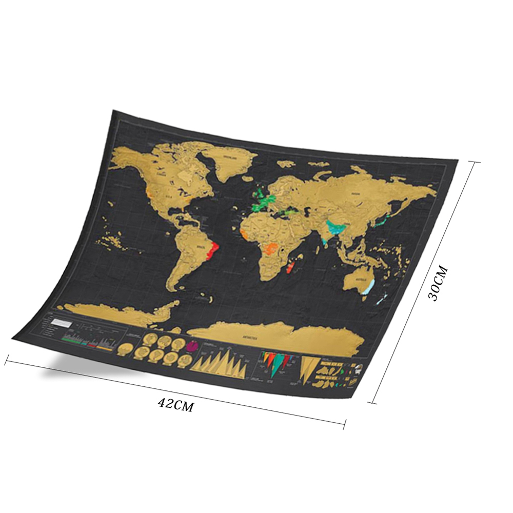 World Map Scratch Off World Map Personalized Travel Scratch For Map Room Home Decoration Wall Stickers