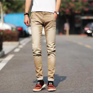 Image 4 - جديد موضة الرجال الجينز ضوء اللون جينز سترتش عادية مستقيم سليم صالح متعدد الألوان نحيل الجينز الرجال القطن سراويل جينز