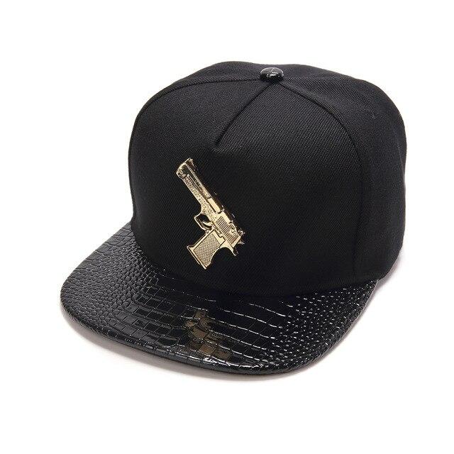 Asli gun pistol bentuk kapas topi datar bertepi hip-hop topi topi bisbol  topi pasang ee5cb26224