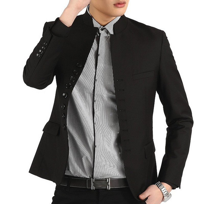 2016 Spring Retro Mens Blazer Jacket Cheap Slim Fit Suits Designers Brand Clothing Stand