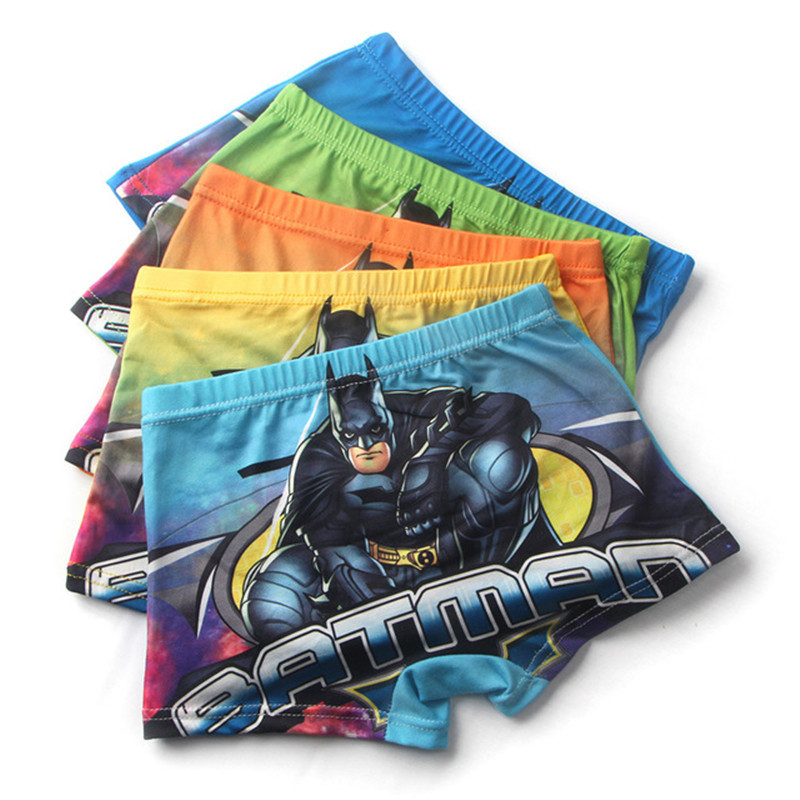 5 Pcs/lot Cartoon Boys Underwear Batman Baby Children's Boxer Underpants Briefs   Shorts   Baby Boys UnderwareFor 2-7 Teenager