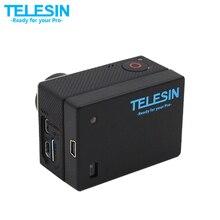 TELESIN 1300 mAh 3.8 V Substituição Da Bateria Estendida Bacpac com Waterproof Habitação Backdoor Caso Capa para GoPro Hero 4 3 3 +