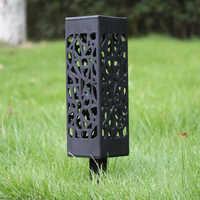 4pcs LED Solar Lights Outdoor Garden Decoration Stainless Steel Sensor Sunlight Waterproof Garden Stair Courtyard Pathway Lamps