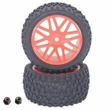 2 unidades de goma rc 1/10 buggy neumáticos ruedas traseras 12mm hexagonal para redcat tornado s30 epx partes
