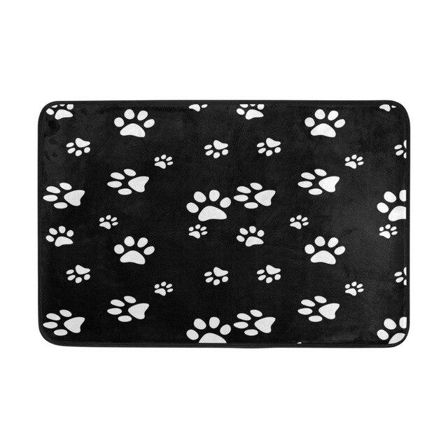 Personalized Dog Paw Prints Doormat Machine Washable Non Slip Doormat  Indoor Outdoor Floor Mat Rugs