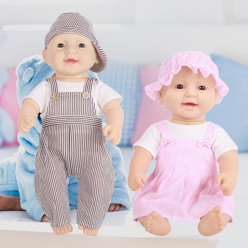 Baby Simulation Doll Toy Soft Vinyl Lifelike Reborn Baby Doll Boys Girls Sleepping Playmate with Disassembled Clothes Kids Gift