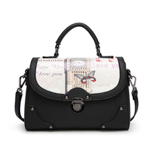 Bag Women Bag Handbag PU Leather Women Leather Handbag Casual Oil Picture Pattern Women Shoulder Bag Fashion Female Tote