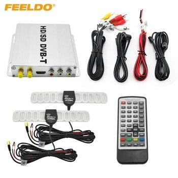 FEELDO Digital Dual Tuner Car HD H.264 MPEG-4 HD/SD Various Channel DVB-T Receiver Mobile DVB-T BOX #HQ2915
