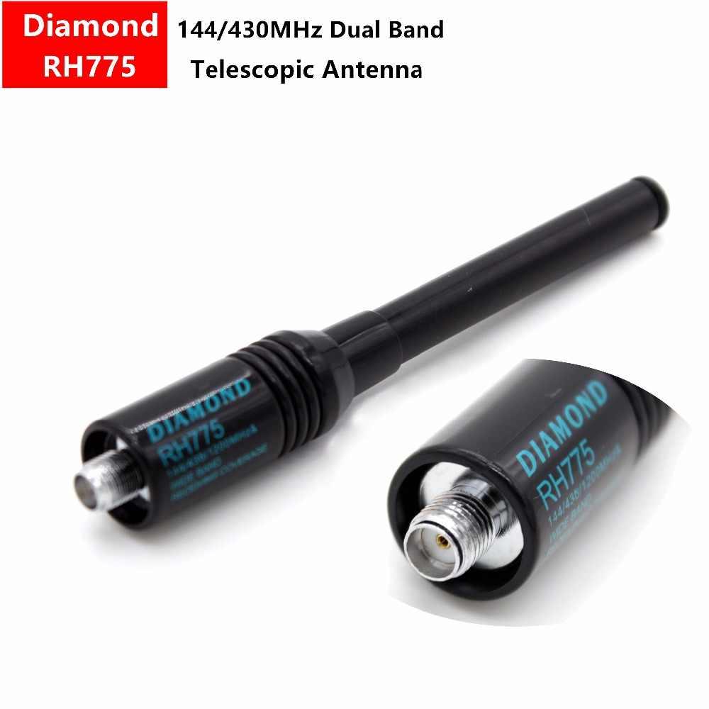Diamond RH775 SMA-Female 144/430MHz Dual Band Antenna for Hanheld Radio BaoFeng UV-5R B6 GT-3 UV-82 BF-888S BF-F8+ F9 V2+ TG-UV2