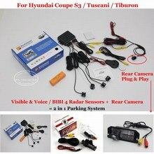 Liislee For Hyundai Coupe S3 / Tuscani / Tiburon – Car Parking Sensors + Rear View Camera = 2 in 1 Visual Alarm Parking System
