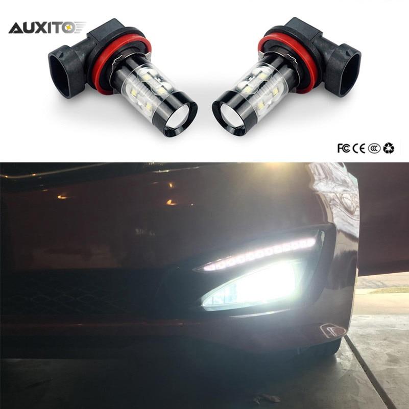 H8 H11 H3 LED Car Fog Lights Driving DRL Bulb 50W For Audi A3 A4 A6 C5 C6 A4 B8 B7 80 A5 B5 Q7 ...