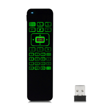 2.4GHz Wireless Fly Air Mouse Gyro Sensing Wireless Keyboard  For  Android Windows Mac  Remote Control With LED Backlight