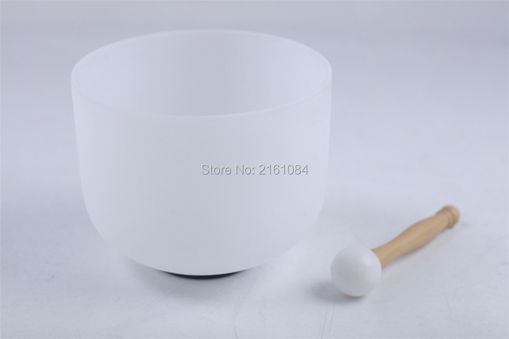 ФОТО Frosted B Crown Chakra Quartz Crystal Singing Bowl 13