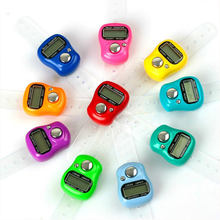 Compact Smart Digital Counter Electronic Counter Finger Counter LCD Ring Random Color Stitch Marker Tally Sports Click Tally New(China)