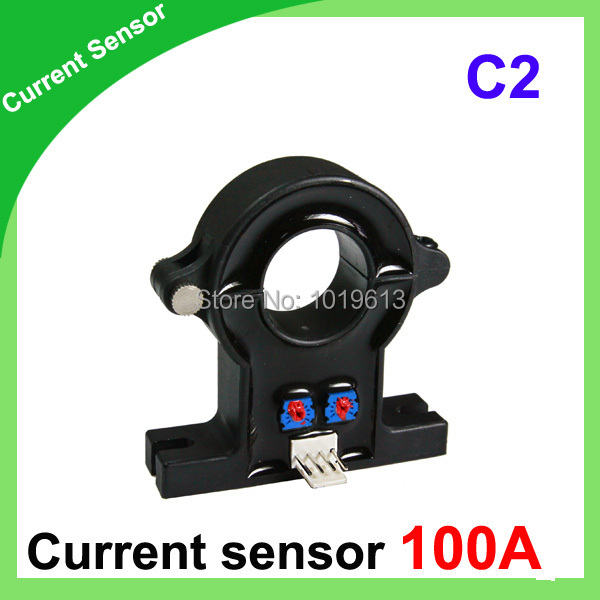 C2-100A Open loop hall effect current sensor 21mm hole diameter split core current transducer d8 hall effect high current transducer 1000a dc current transducer