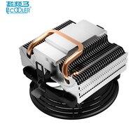 Pccooler V2 Pure Copper Heatpipes Silent 10cm 100mm Cpu Fan For AMD Intel 775 1150 1156