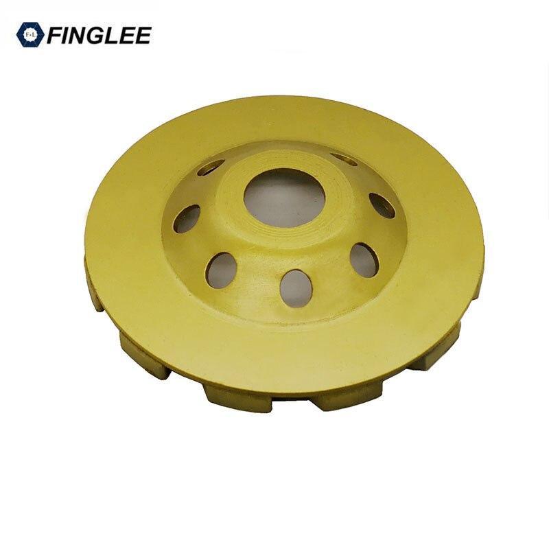 Купить с кэшбэком 4inch/100mm Diamond Wheel Disc Bowl Grinding Cup Concrete Granite Marble Stone Polishing Pads Masonry Tools