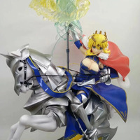 NEW hot 30 50cm Fate/stay night Saber Arutoria Pendoragon horse riding action figure Christmas gift collection toys no box