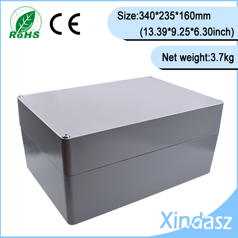 340*235*160mm 13.39X9.25X6.30Inch aluminum die casting company junction box waterproof aluminum enclosure boxes electrical factory supply waterproof and dustproof ip67 waterproof electrical junction boxes 160 160 70mm