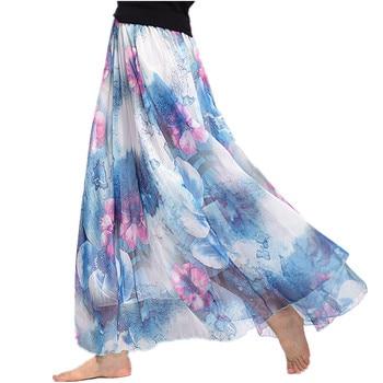 Maxi Skirt Fashion Skirts Womens Summer European Style Casual Ladies Faldas Largas Boho Jupe Femme Clothes Bohemian Ropa Mujer Юбка