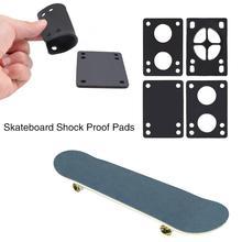 "4pcs 0.24""/6mm Skateboard Truck Riser Shock Proof Pads Longboard Shockpads Black"