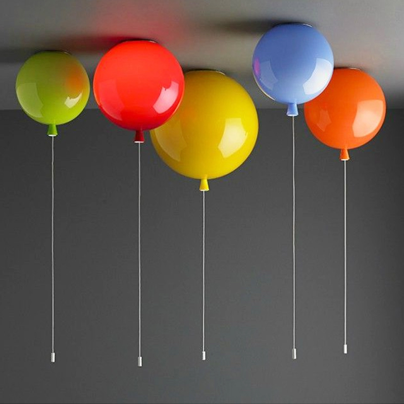 Macaron Color Balloon Ceiling Lights Modern Simplicity Nordic Style Home Restaurant Living Room Light Children Bedroom Lamp loft [ygfeel] ceiling lights modern simplicity novelty color balloon shape home restaurant living room lighting children bedroom lamp