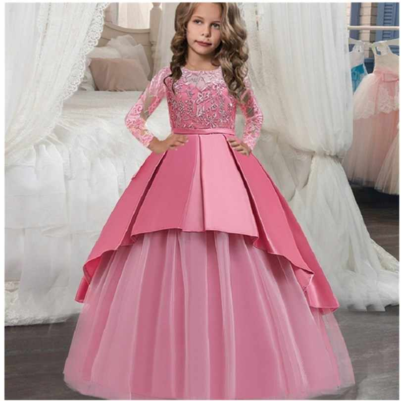 2019 Tulle Infant Toddler Diamond lace Flower Girl Dresses for Weddings and Party First Communion Dresses For Girls
