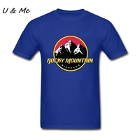 Printed Hops T Shirt Men Classic Collar Rocky Mountain Tee Perfect Rider T Shirt Camisetas For