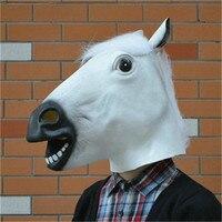 Cosplay Halloween Carnaval Festa de Páscoa de Cavalo Cabeça de Cavalo Máscara De Látex Realista silicone Engraçado máscaras decorações Da festa de Aniversário